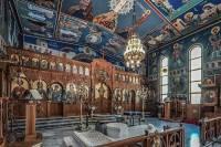 the very ornate altar at St. Euphemia Greek Orthodox Church of Bankstown