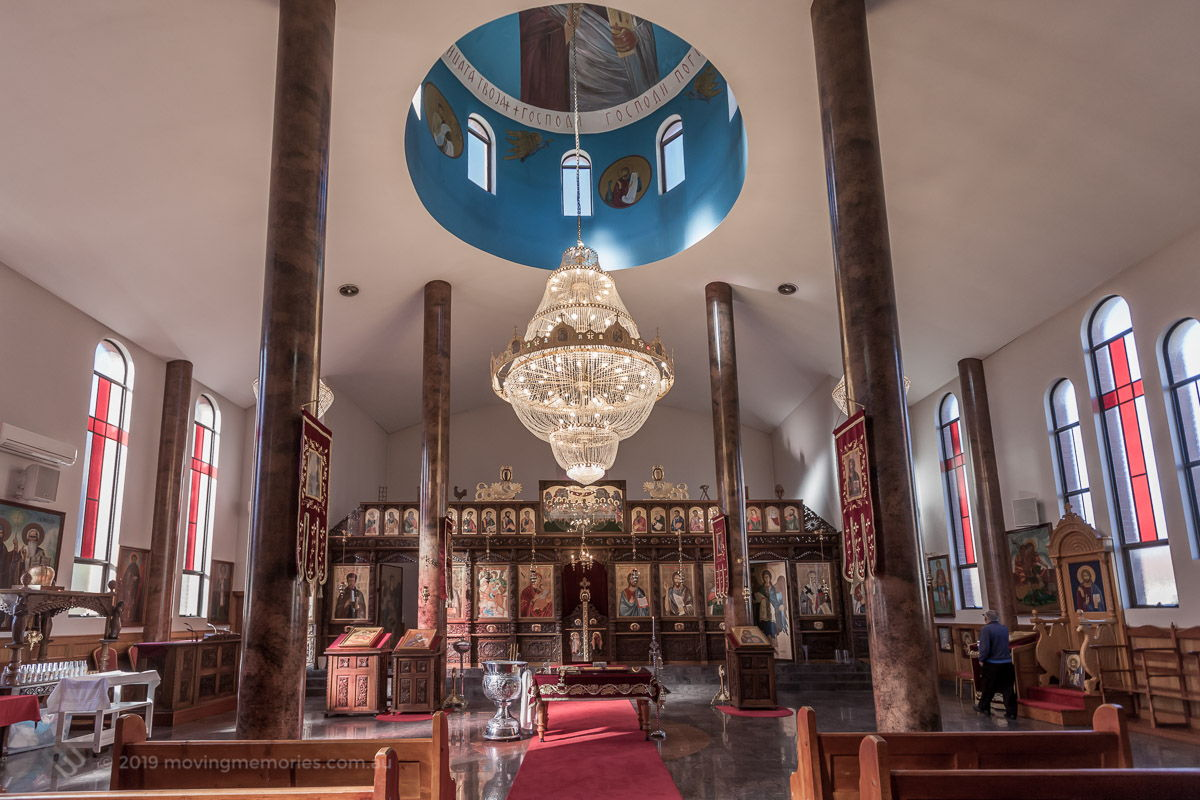 the-church-interior-and-altar-before-guests-for-Baby-Girl-Andrjea-Christening-at-Macedonian-Orthodox-Church-Wollongong-Panorama-Ho