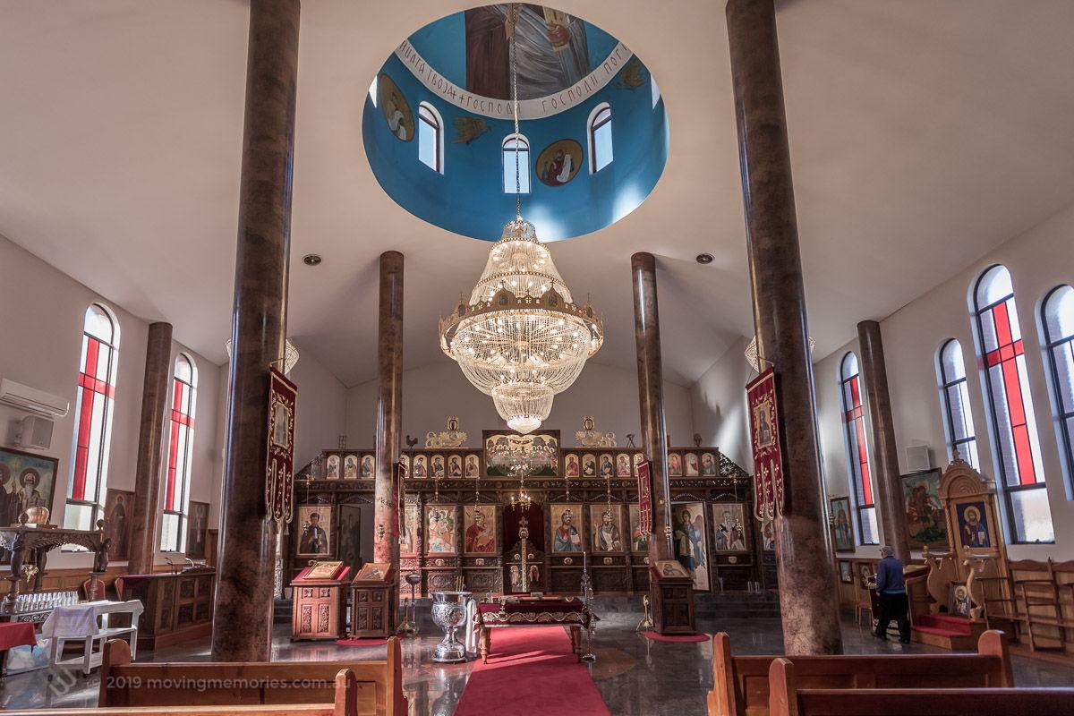the-church-interior-and-altar-before-guests-for-Baby-Girl-Andrjea-Christening-at-Macedonian-Orthodox-Church-Wollongong-Panorama-Ho