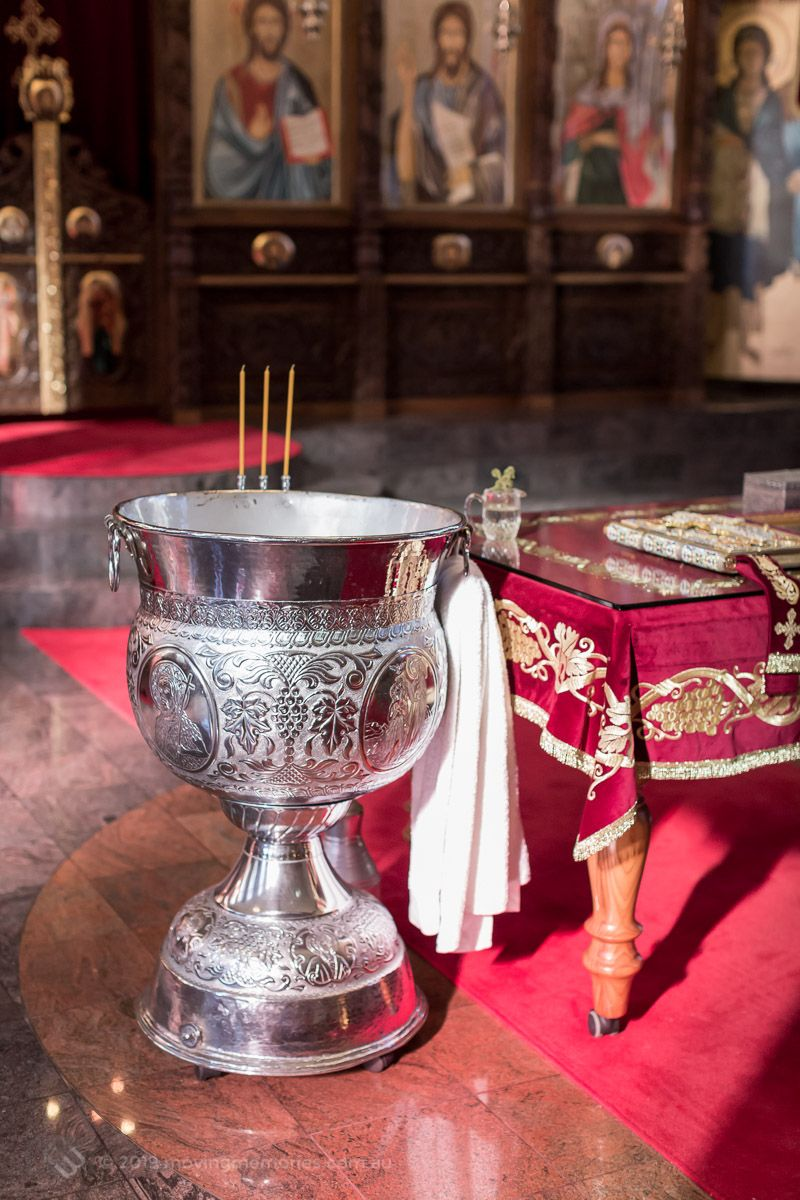 the-baptism-font-and-holy-bible-for-Baby-Girl-Andrjea-Christening-at-Macedonian-Orthodox-Church-Wollongong-Panorama-House